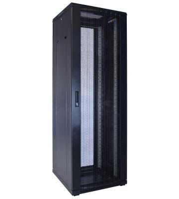 37U server rack with perforated door 600x600x1800mm (WxDxH)