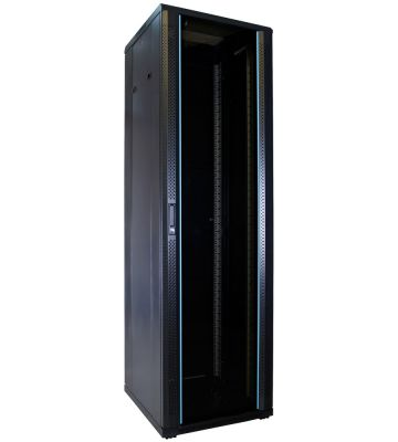 42U server rack with glass door 600x600x2000mm (WxDxH)