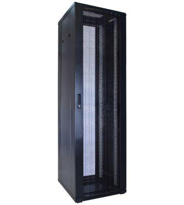 42U server rack with perforated door 600x600x2000mm (WxDxH)