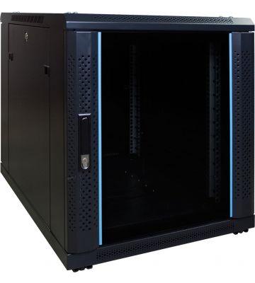 12U mini server rack with glass door 600x800x720mm (WxDxH)