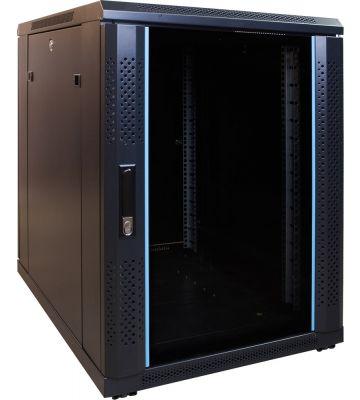 15U mini server rack with glass door 600x800x860mm (WxDxH)