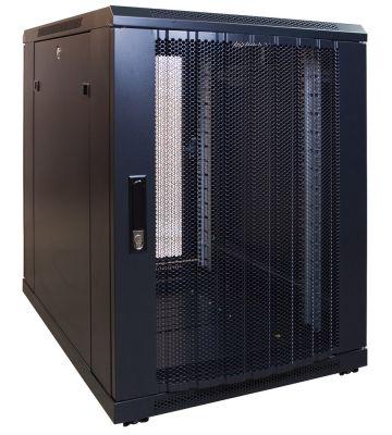 15U mini server rack with perforated door 600x600x860mm (BxDxH)