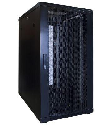 22U server rack with perforated door 600x800x1200mm (WxDxH)