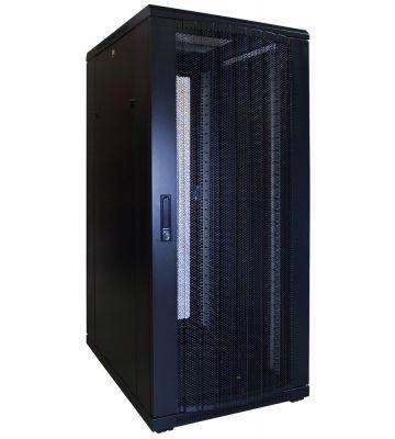 27U server rack with perforated door 600x800x1400mm (WxDxH)