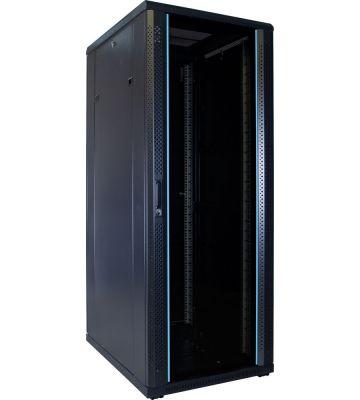 32U server rack with glass door 600x800x1600mm (WxDxH)