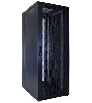 32U server rack with perforated door 600x800x1600mm (WxDxH)
