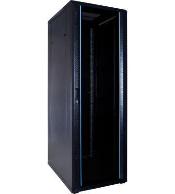 37U server rack with glass door 600x800x1800mm (WxDxH)