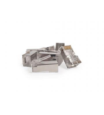 CAT5e connector RJ45 - shielded - 10 pieces