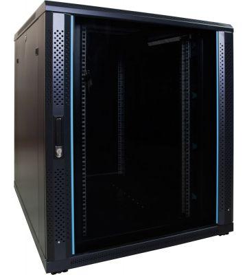 18U server rack with glass door 800x1000x1000mm (WxDxH)