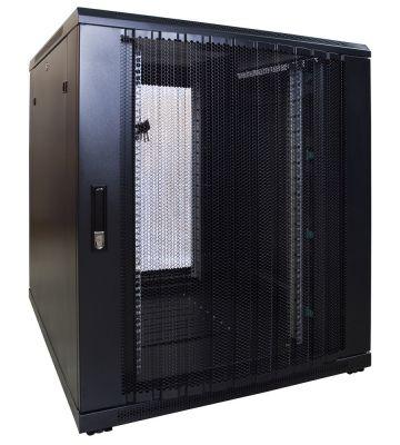 18U server rack with perforated door 800x1000x1000mm (WxDxH)