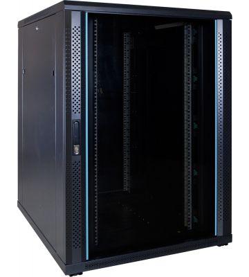 22U server rack with glass door 800x1000x1200mm (WxDxH)