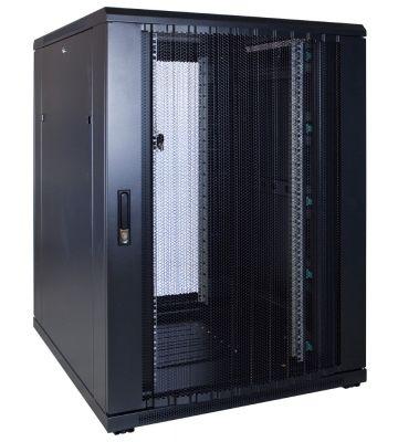 22U server rack with perforated door 800x1000x1200mm (WxDxH)