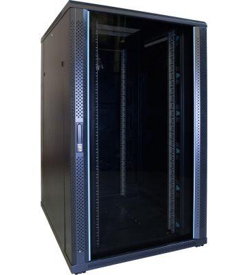 27U server rack with glass door 800x1000x1400mm (WxDxH)