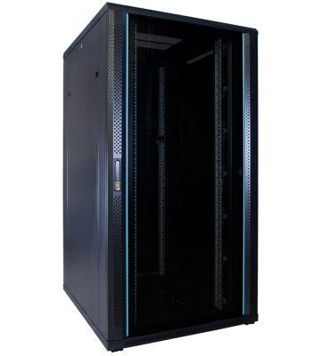 32U server rack with glass door 800x1000x1600mm (WxDxH)