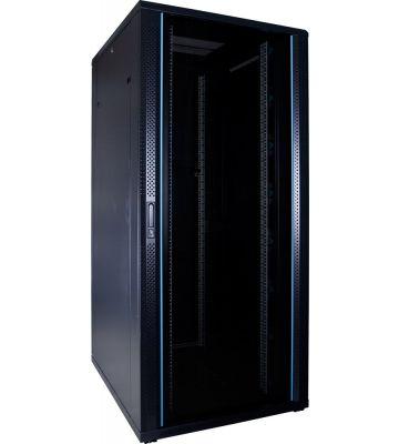 37U server rack with glass door 800x1000x1800mm (WxDxH)