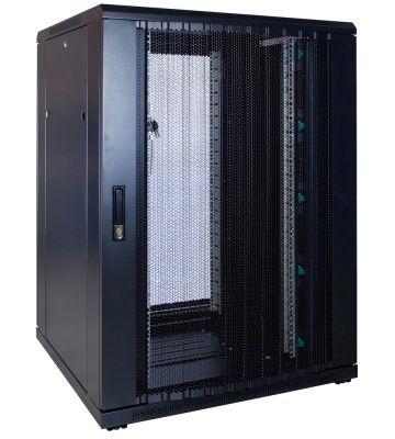 22U server rack with perforated door 800x800x1200mm (WxDxH)