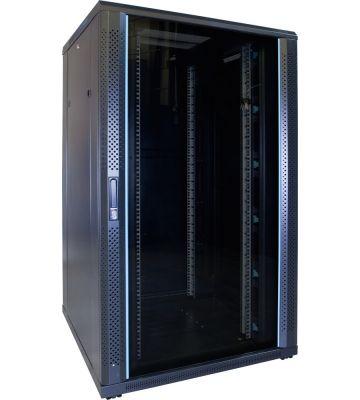 27U server rack with glass door 800x800x1400mm (WxDxH)