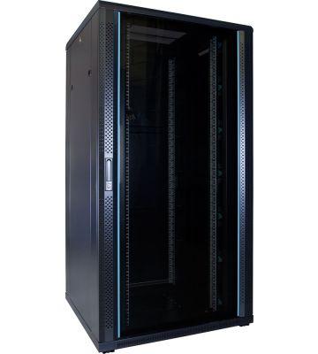 32U server rack with glass door 800x800x1600mm (WxDxH)