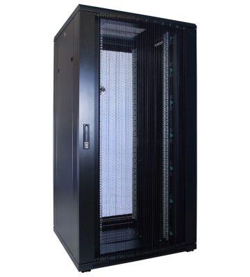 32U server rack with perforated door 800x800x1600mm (WxDxH)