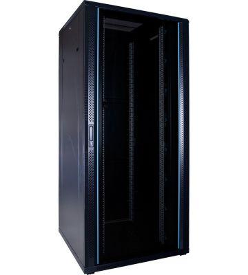 37U server rack with glass door 800x800x1800mm (WxDxH)