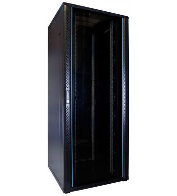 47U server rack with glass door 800x800x2260mm (WxDxH)