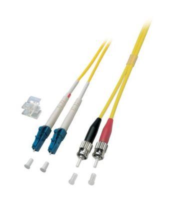 OS2 duplex fibre optic cable LC-ST 10m