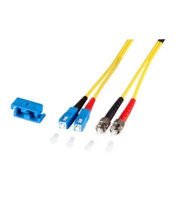 OS2 duplex fibre optic cable SC-ST 15m