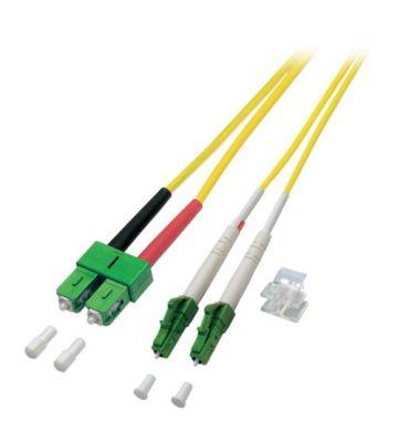 OS2 duplex fibre optic cable LC/APC-SC/APC 1m