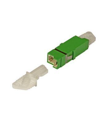 Singlemode keystone coupling E2000-E2000 simplex green