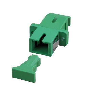 Singlemode coupler SC-SC simplex green