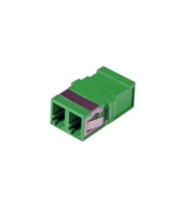 Singlemode keystone coupling LC-LC duplex green