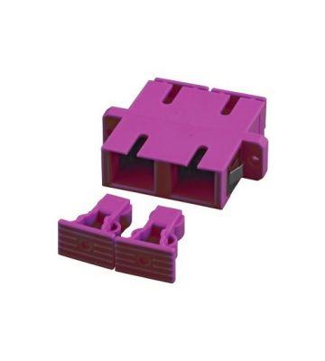 Multimode coupler SC-SC duplex purple