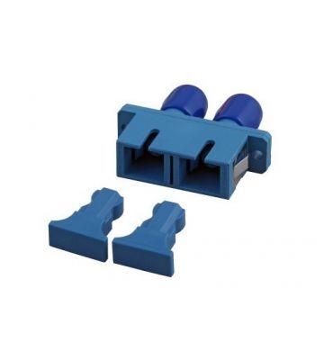 Singlemode coupler SC-ST duplex blue