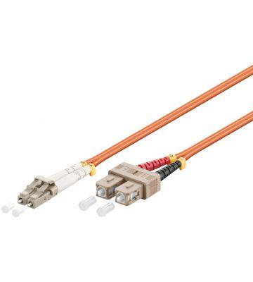 Fibre optic cable LC-SC OM2 20m