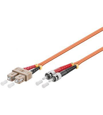 Fibre optic cable SC-ST OM2 1m