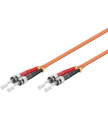 Fibre optic cable ST-ST OM2 1m