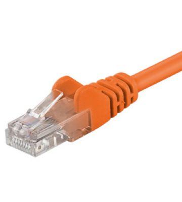 CAT5e UTP 0,25m orange  - CCA