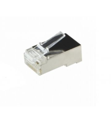 CAT6 RJ45 connector - shielded - for solid cable