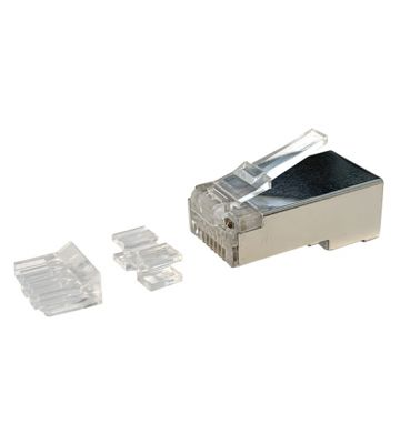 CAT6a connector RJ45 shielded with joint-piece - for solid cable