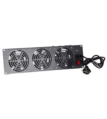 Fan set with 3 fans, suitable for installation between struts - 3U