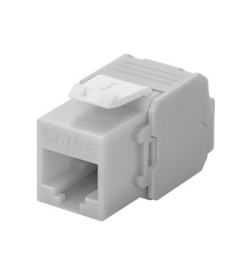 CAT6a UTP Keystone Connector - Toolless- grey
