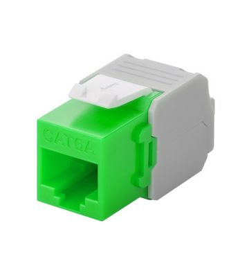 CAT6a UTP Keystone Connector - Toolless - green
