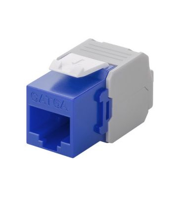 CAT6a UTP Keystone Connector - Toolless - blue