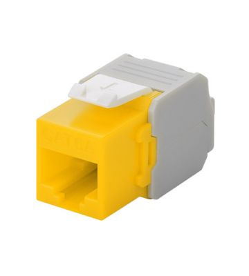 CAT6a UTP Keystone Connector - Toolless - yellow