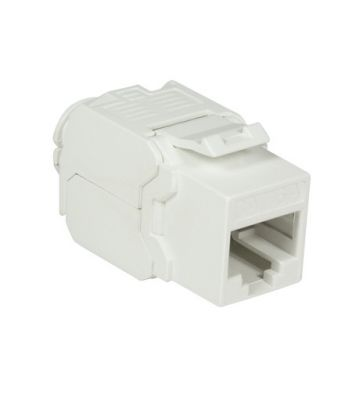 CAT6a UTP Keystone Connector - Toolless - White