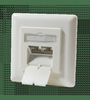 CAT6 UTP / STP flush-mount box, ivory
