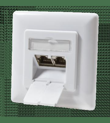 CAT6a UTP / STP flush mounted socket, white