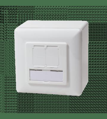 CAT5e UTP / STP surface-mount box, white
