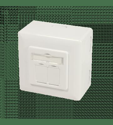 CAT6a UTP / STP surface mounted scoket, ivory