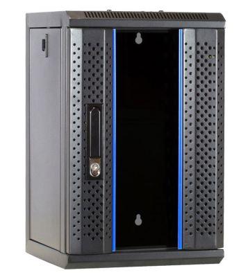 10 inch 9U server rack with glass door 312x310x486mm (WxDxH)